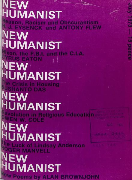 New Humanist – July 1973