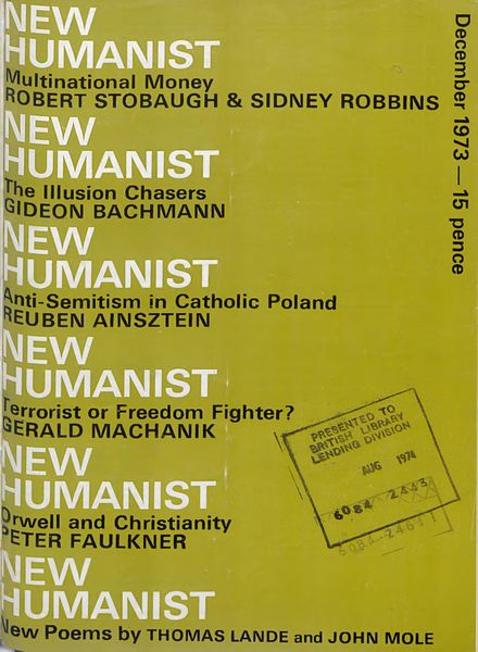 New Humanist – December 1973