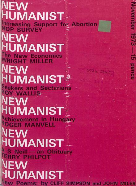 New Humanist – November 1973