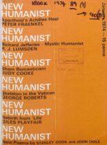 New Humanist – January 1974