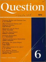 New Humanist – Question, January 1973