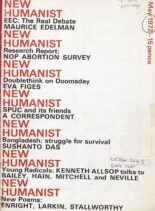 New Humanist – May 1972