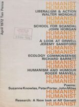 New Humanist – The Humanist, April 1972