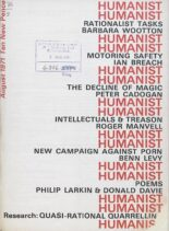 New Humanist – The Humanist, August 1971