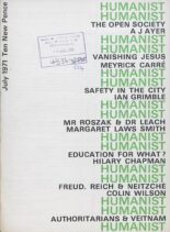 New Humanist – The Humanist July 1971