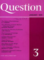 New Humanist – Question, January 1970