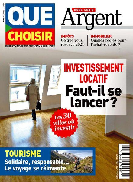 Que Choisir – Hors-Serie Argent – Avril 2021