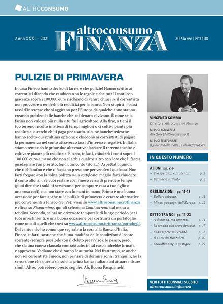Altroconsumo Finanza – 30 Marzo 2021