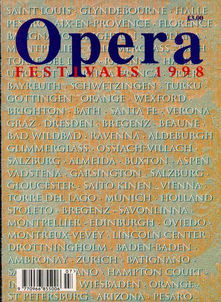 Opera – Annual Festival – 1998