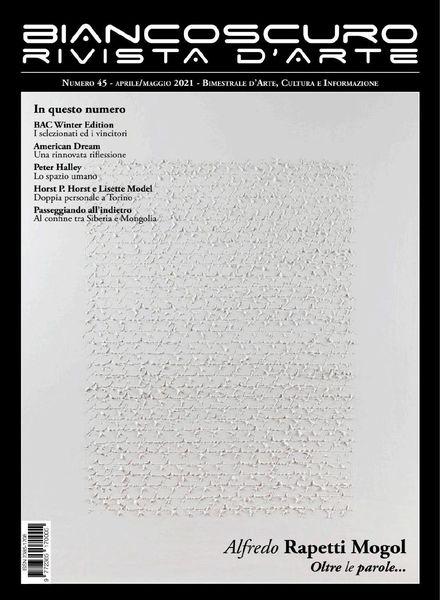 Biancoscuro Rivista d'Arte – Aprile-Maggio 2021