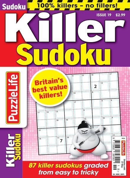 PuzzleLife Killer Sudoku – 01 April 2021