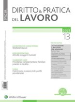 Diritto e Pratica del Lavoro – 3 Aprile 2021