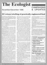 Resurgence & Ecologist – Campaigns & Updates November-December 1996