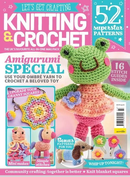 Let's Get Crafting Knitting & Crochet – Issue 123 – July 2020