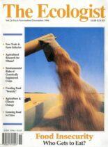 Resurgence & Ecologist – Ecologist, Vol 26 N 6 – November – December 1996