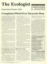 Resurgence & Ecologist – Campaigns & Updates September-October 1996