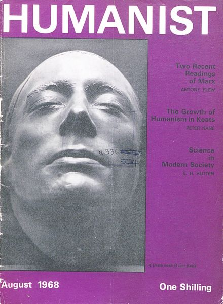 New Humanist – The Humanist, August 1968