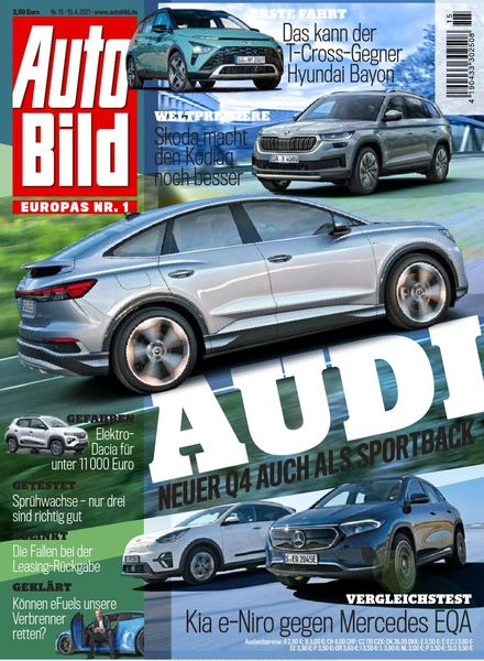 Auto Bild Germany – 15 April 2021