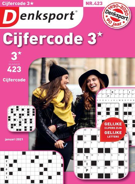 Denksport Cijfercode 3 – 31 december 2020