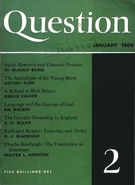 New Humanist – Question, January 1969