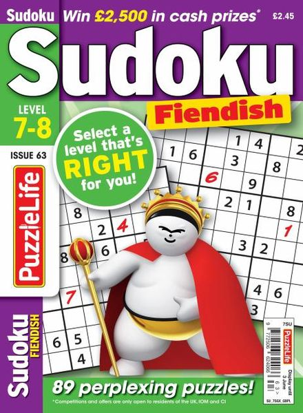 PuzzleLife Sudoku Fiendish – 01 May 2021