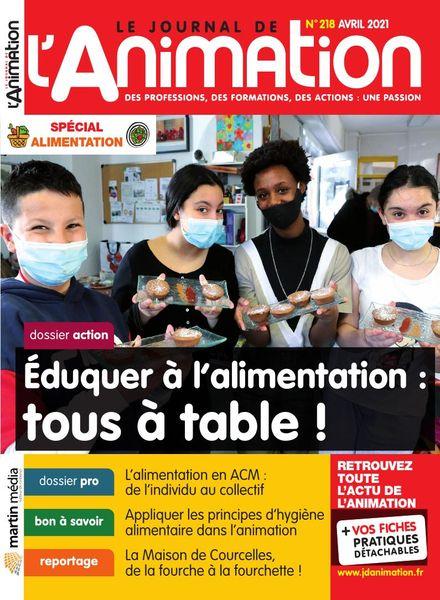 Le Journal de l'Animation – Avril 2021