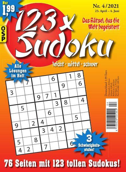 123 x Sudoku – Nr.4 2021