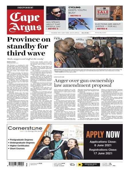 Cape Argus – May 2021