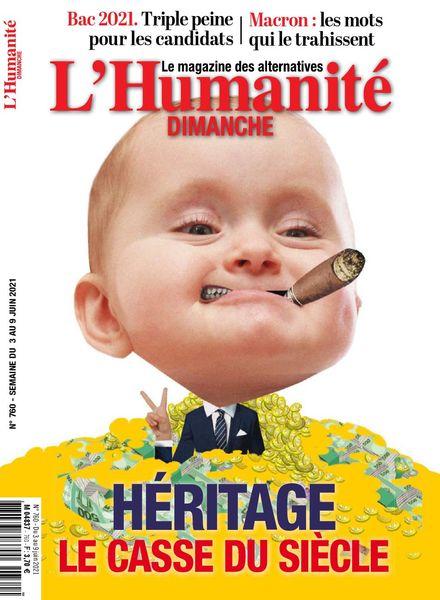L'Humanite Dimanche – 3 Juin 2021