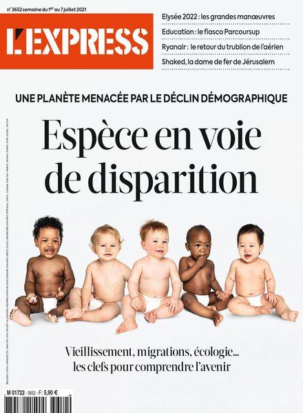L'Express – 01 juillet 2021