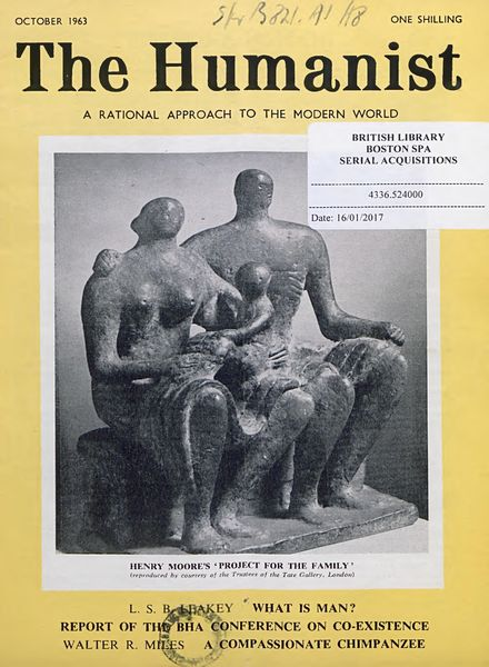 New Humanist – The Humanist, October 1963