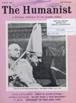 New Humanist – The Humanist, August 1963