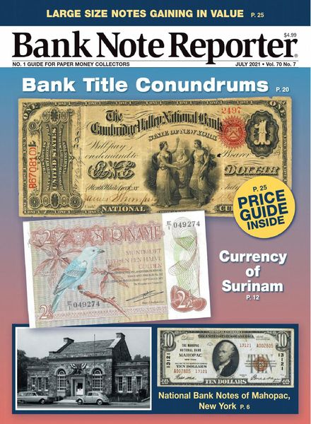 Banknote Reporter – July 2021