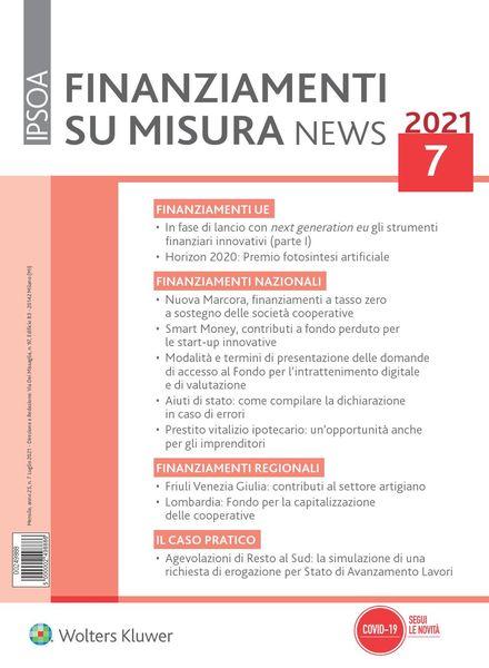 Finanziamenti su misura news – Luglio 2021