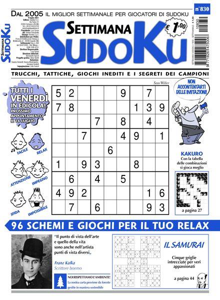 Settimana Sudoku – 07 luglio 2021
