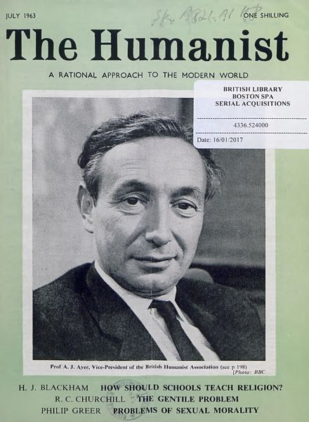 New Humanist – The Humanist, July 1963