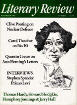 Literary Review – November 1985