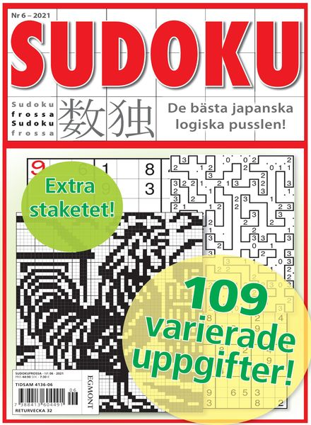 Sudoku Frossa – 15 juli 2021
