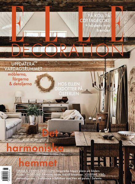 Elle Decoration Sweden – augusti 2021