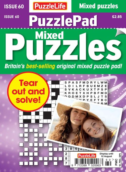 PuzzleLife PuzzlePad Puzzles – 15 July 2021