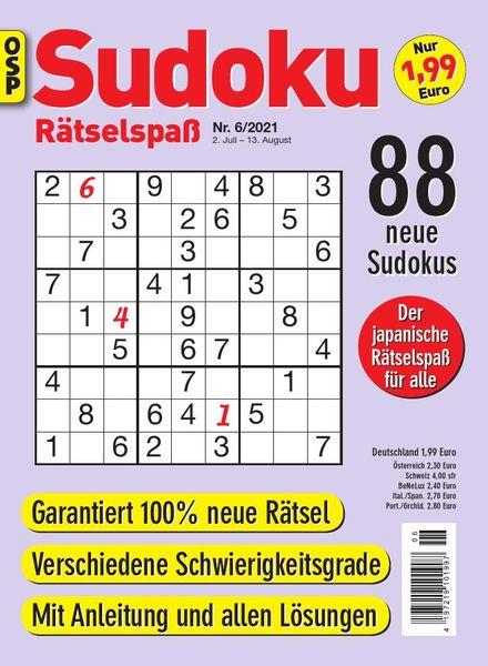 Sudoku Ratselspass – Nr.6 2021