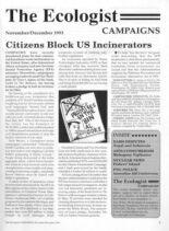 Resurgence & Ecologist – Campaigns Vol 23 N 6 – November-December 1993