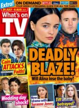 What's on TV – 31 July 2021
