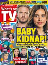 What's on TV – 14 August 2021
