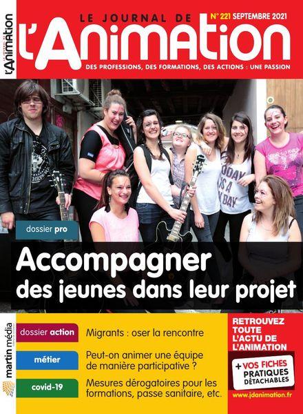 Le Journal de l'Animation – Septembre 2021