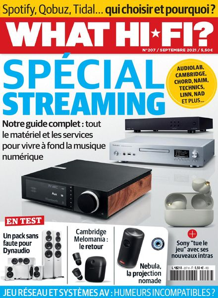 What Hifi France – septembre 2021