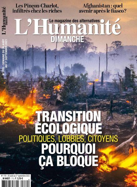 L'Humanite Dimanche – 26 Aout 2021