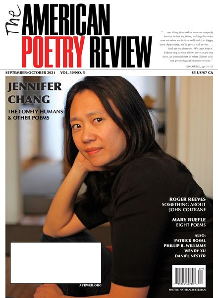 The American Poetry Review – September-October 2021