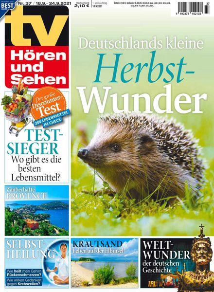 TV Horen und Sehen – 10 September 2021