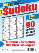 Ideal Sudoku – Nr.7 2021